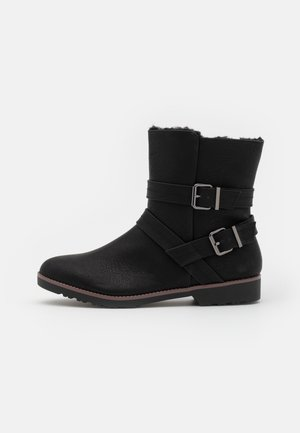 WIDE FIT - Classic ankle boots - black