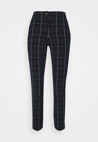 PANTS COMFORT - Trousers - navy/deep green