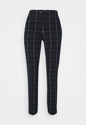 PANTS COMFORT - Trousers - navy/deep green