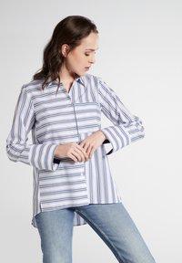 Eterna - Button-down blouse - navy/white - 0