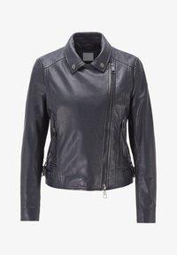 BOSS - JUANA - Leather jacket - open blue - 5
