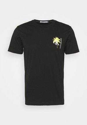 PALM PRINT GRAPHIC TEE UNISEX - T-Shirt print - black