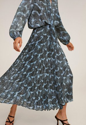 DENO - A-line skirt - bleu