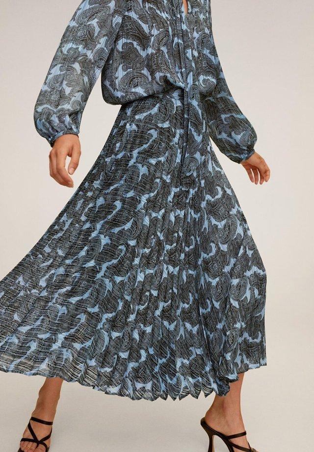 DENO - Spódnica trapezowa - bleu