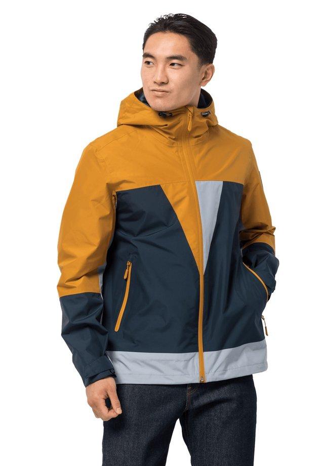Hardshell jacket - yellow, blue