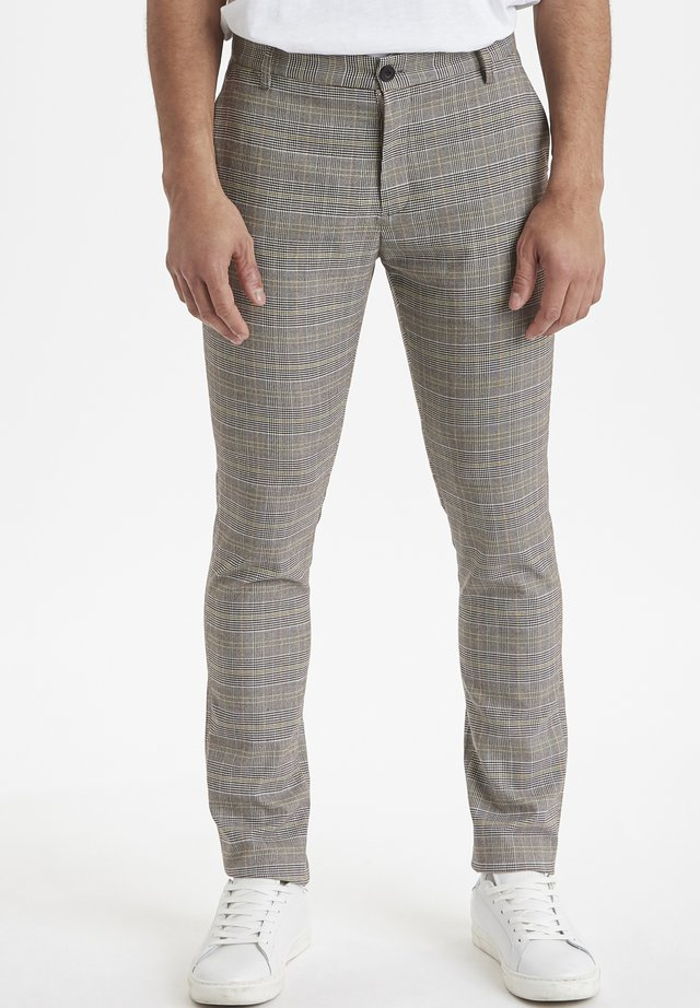 PEARSON CHECKED  - Trousers - neutral grey
