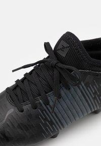 Puma - FUTURE Z 4.1 FG/AG JR UNISEX - Moulded stud football boots - black/asphalt - 5
