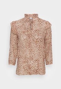 Rich & Royal - BLOUSE PRINTED WITH RUFFLES - Blouse - beige - 3