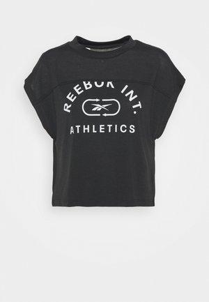 WOR SUPREMIUM LOGO TEE - T-shirt print - black