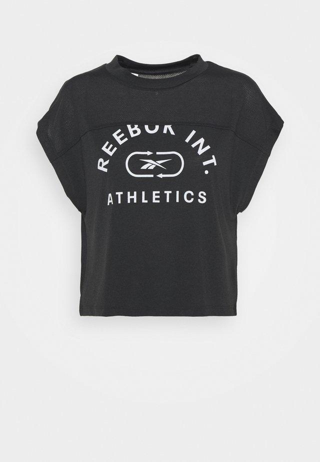 WOR SUPREMIUM LOGO TEE - T-shirt con stampa - black