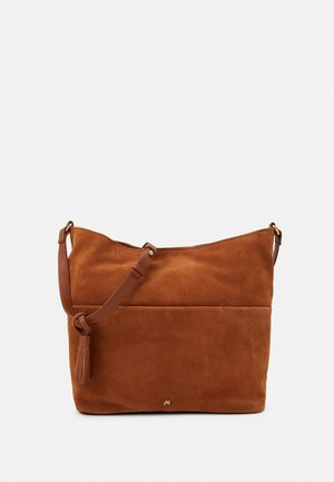 LEATHER - Olkalaukku - cognac