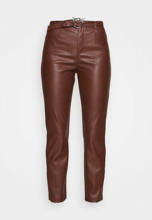 SUSAN - Spodnie materiałowe - brown