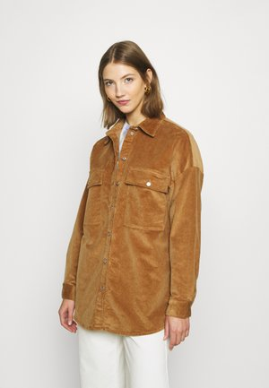 NMFLANNY LONG SHACKET - Summer jacket - toasted coconut