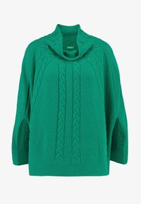 Benetton - MIX CABLE PONCHO - Ponczo - green - 4