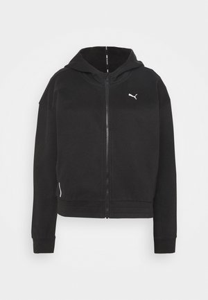 TRAIN FAVORITE FULL ZIP - Mikina na zip - black