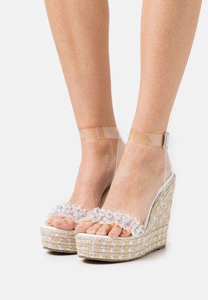 NATALY - Platform sandals - clear