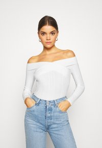 Miss Selfridge - WIDE BARDOT - Jumper - cream - 0