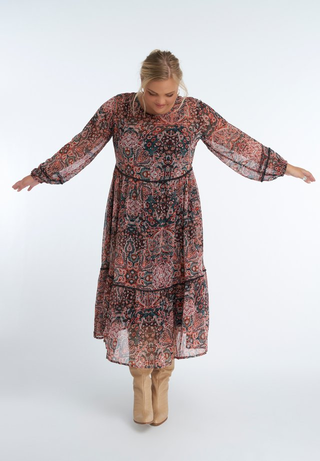 Korte jurk - multi-color