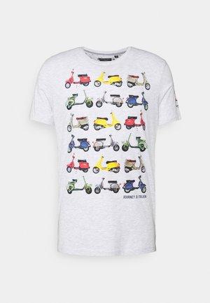 TRAVEL - Print T-shirt - ecru marl