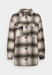 ONLY - ONLALLISON CHECK SHACKET - Winter jacket - pumice stone/black - 4
