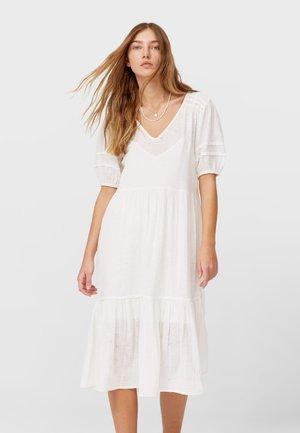 MIT STICKEREI - Day dress - white