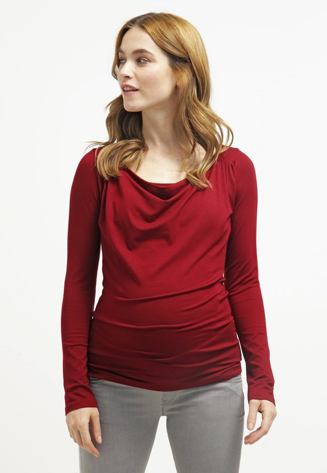PRISCA - Long sleeved top - bordeaux