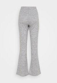 Pieces - PCPAM FLARED PANT - Trousers - light grey melange - 1