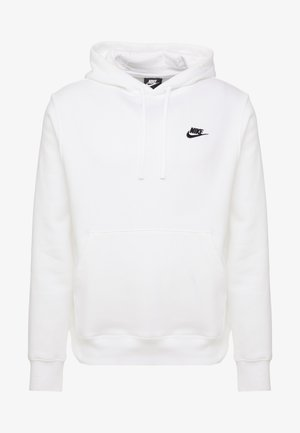 CLUB HOODIE - Bluza z kapturem - white/black