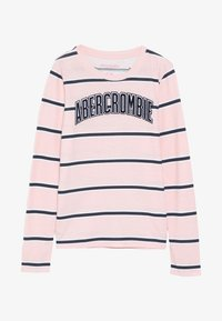 Abercrombie & Fitch - LOGO PATTERN CREW - Langærmede T-shirts - pink - 3