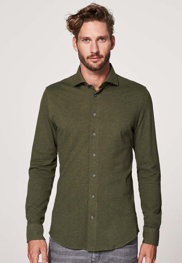 Herren SLIM FIT - Hemd - groen