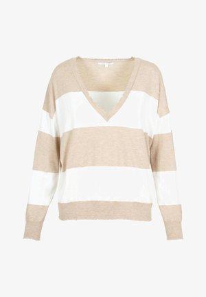 Trui - beige stripes