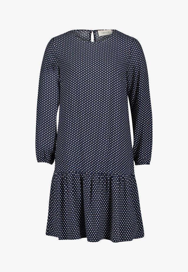 Korte jurk - dunkelblau/weiß
