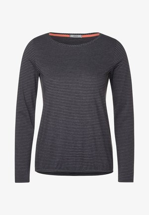 MIT STREIFEN - Long sleeved top - grau