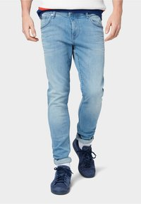 TOM TAILOR DENIM - Slim fit jeans - used light stone blue denim - 0