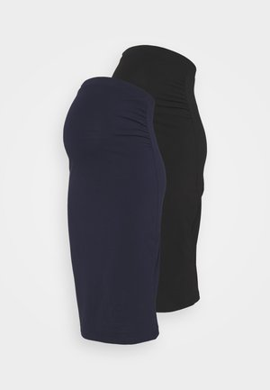 2 PACK - Falda de tubo - black/dark blue