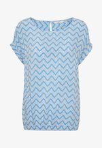BLOUSE PRINTED - Blouse - blue