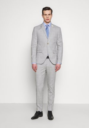 CHECK WEDDING SUIT - Suit - grey