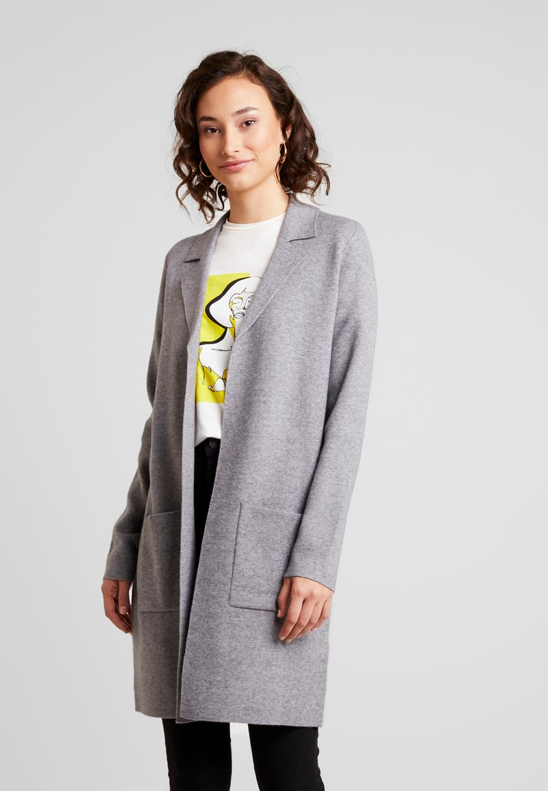 Vero Moda - VMTASTY FULLNEEDLE COATIGAN - Kardigan - medium grey melange