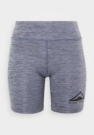 FAST SHORT TRAIL - Leggings - blackened blue/heather/reflective silver