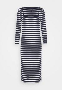 Jersey dress - navy stripe