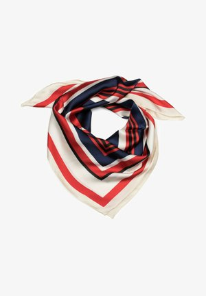 Foulard - rot dunkelblau schwarz
