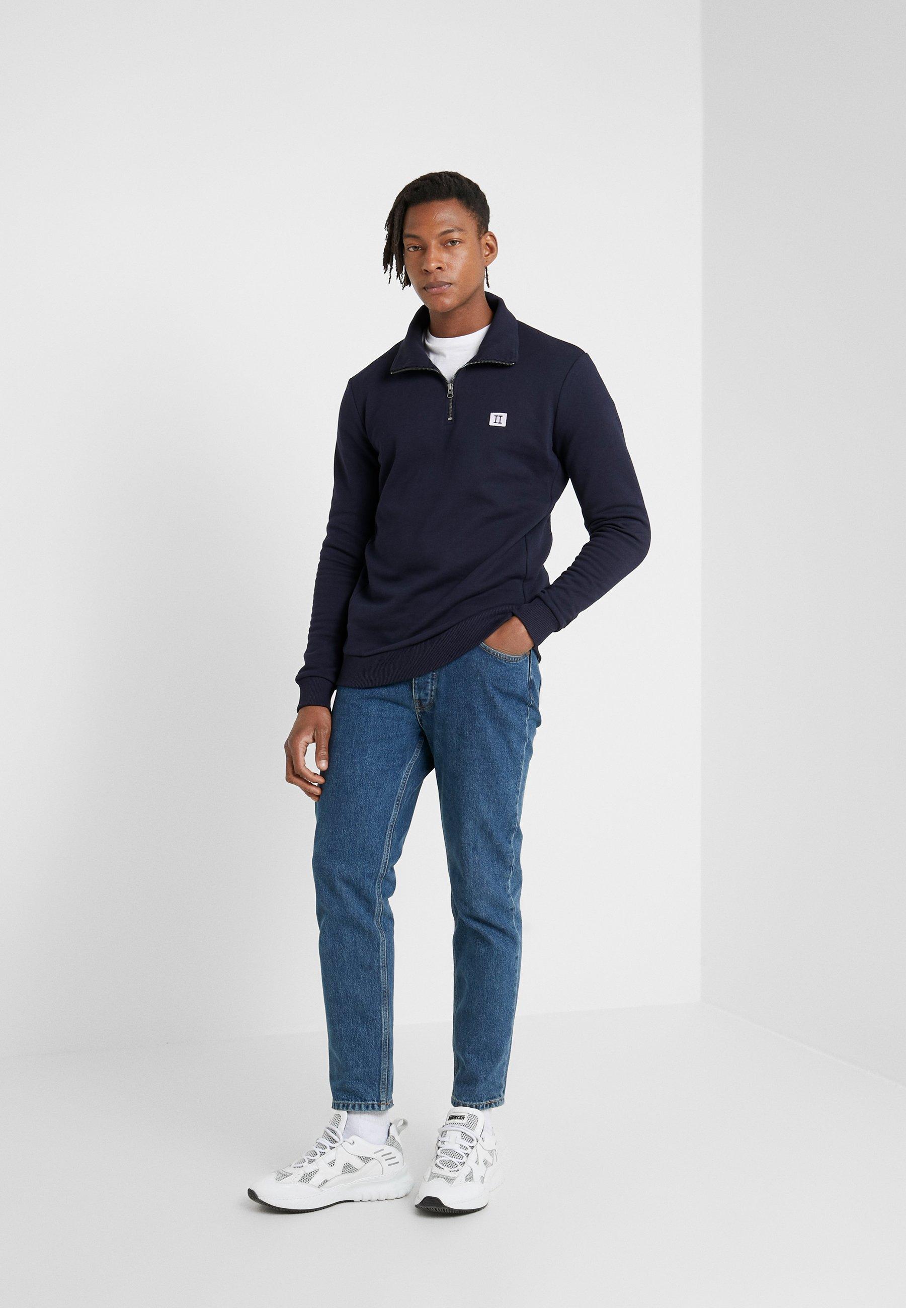 Les Deux PIECE HALF ZIP - Sweatshirt - dark navy/lavender