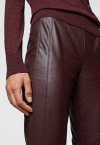 BOSS - Leggings - Trousers - dark red - 3