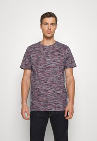 TOM TAILOR - Print T-shirt - navy/neon space - 0