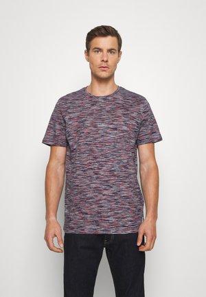 T-Shirt print - navy/neon space