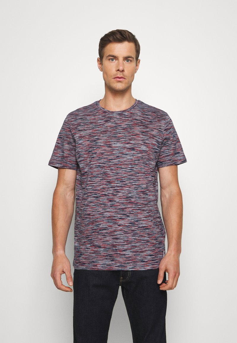 TOM TAILOR - Print T-shirt - navy/neon space