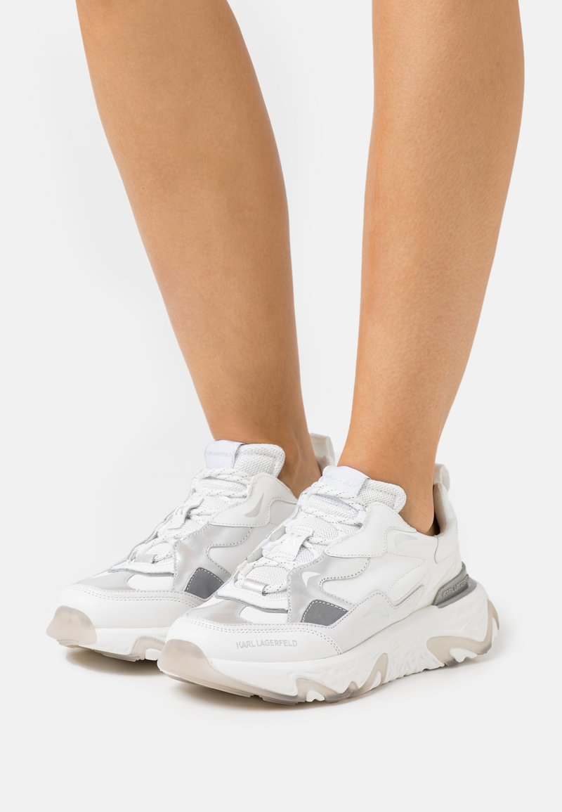 KARL LAGERFELD - BLAZE STRIKE LACE  - Sneakers laag - white/silver