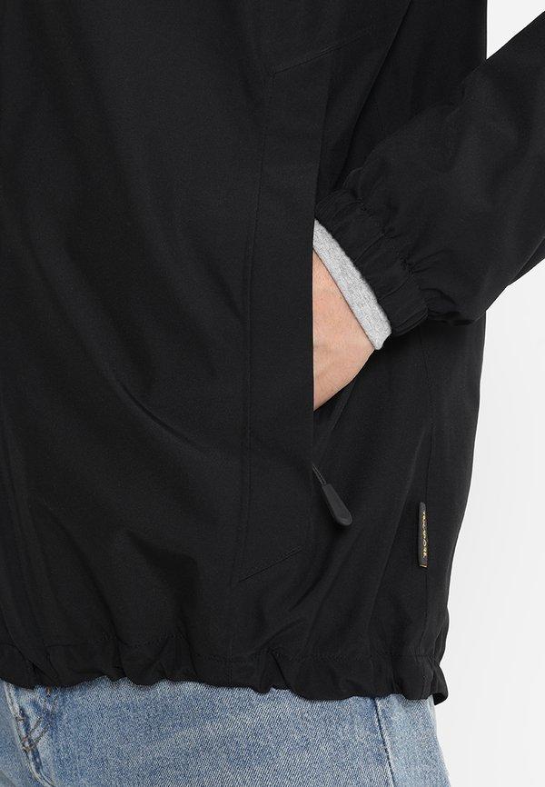 Jack Wolfskin STORMY POINT JACKET - Kurtka przeciwdeszczowa - black/czarny Odzież Męska GTHF