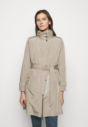 QUILTED VEST COAT 2-IN-1 - Trenchcoat - taupe