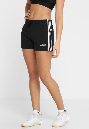 ESSENTIALS 3STRIPES SPORT 1/4 SHORTS - Pantalón corto de deporte - black/white